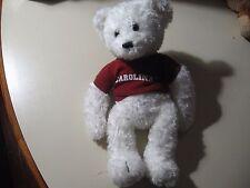 "13"" plush bean bag Teddy Bear w/Carolina shirt doll, good condition"