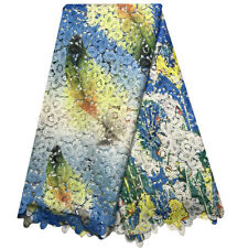5 Y Cord Lace Textile Milky Lace Cotton Fabric African Prints Fabric Women Dress