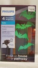 Philips 4 Focusable Projectors Halloween Green Bats Indoor/Outdoor NEW