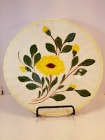 BLUE RIDGE Southern Potteries vintage Dinner Plate Yellow Nocturn pattern
