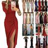 Women Sexy High Slit Evening Dress Party Cocktail Formal Ball Gown Prom Dresses