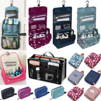 Women Travel Cosmetic Makeup Bag Toiletry Case Hanging Zipper Pouch Organizer BG
