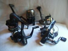LOT OF 5 SPINCAST FISHING REELS DIAWA G80 EAGLE CLAW SHAKESPEARE ALL WORKING