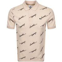 Lacoste Live Signature Polo Shirt Beige