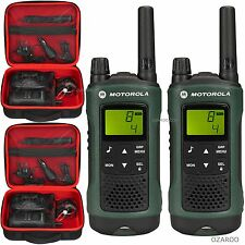 2 X Motorola Hablador tlkr T81 Hunter 10km Walkie Talkie + Funda