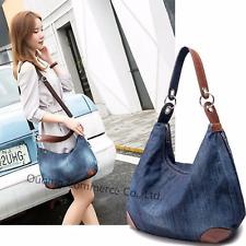 Hobo Denim Handbag Vintage Women Fashion Shoulder Bag Casual Tote Backpack  Lady d8f31afdfa272