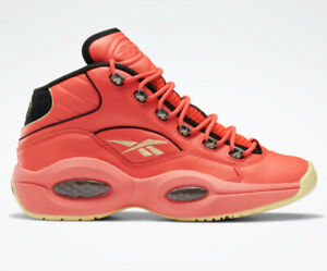 REEBOK QUESTION MID 'HOT ONES' MENS BASKETBALL SNEAKERS (GV7093) - ALL SIZES