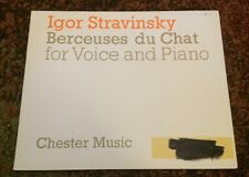 Igor Stravinsky Berceuses Du Chat For Voice And Piano Chester Music