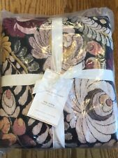 New Beautiful Pottery Barn Helena Embroidered Floral King/Cal King Duvet Cover