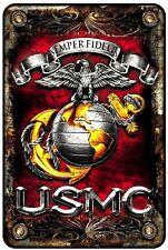 Marines USMC Tin Sign - 8x12
