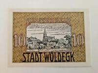 WOLDEGK REUTERGELD NOTGELD 10 PFENNIG 1922 NOTGELDSCHEIN (11510)