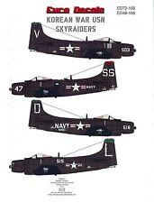 Korean War US Navy Skyraiders (1/72 decals, Euro Decals 72106)