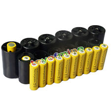 12x AA 3000mAh YEL Ni-MH Rechargeable Battery + 6C/6D Battery Adapter Converter