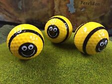 Golfball Critters NOVELTY GOLF BALLS 3 Pack - 3 Bumble Bee Golf Balls - yellow