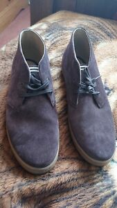 Fred perry brown desert boots size 10, new never worn, royal mail.