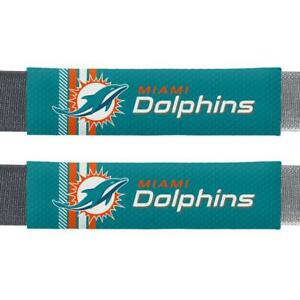 Miami Dolphins Rally Design Seat Belt Pads 2 Pack [NEW] Car Seatbelt Shoulder