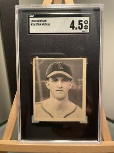 1948 Bowman #36 STAN MUSIAL Rookie SGC 4.5 St Louis Cardinals RC HOF Graded