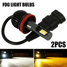2PCS 20W H8 H11 White+Amber Yellow Dual Color LED Fog Light Bulbs 720LM CA