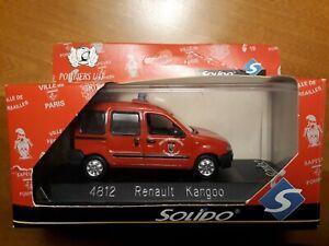 ►Miniature Sapeurs Pompiers SOLIDO 1/43 4812 Renault Kangoo