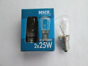 2 Paulmann Nice Price Birnenlampe klar 3256 25 Watt Länge 55 mm Ø 25 mm E14 230V