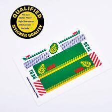 CUSTOM sticker for LEGO 7636 Combine Harvester Technic, Premium quality
