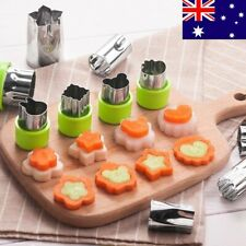 9pcs Cookie Mini Shape Cutter Stainless Steel Fruit Vegetable Kid Food Mold Set