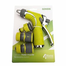 Adjustable Garden Hose Nozzle with Flow Control & Comfort Grip Trigger Handle