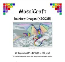 MosaiCraft Pixel Craft Mosaic Kit 'Rainbow Dragon' Pixelhobby