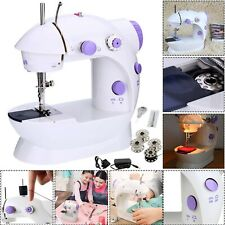 Electric Portable Sewing Machine Overlock Led 2 Speed Mains Powered Foot Pedal
