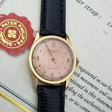 RARE Patek Philippe Tiffany 96 Rose Gold Indirect Second w/ Archive Extract