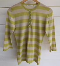 Country Road Women's Green & Beige Knit Top - Size S