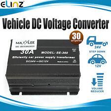 Vehicle DC Voltage Converter Step down 24V to 12V 30A Car Truck Caravan Inverter