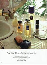 Publicité Advertising 087  1974  parfum  femme  & savon Arpège de Lanvin