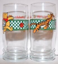 2 Vintage Disney Glasses With Winnie The Pooh And Tigger Oh Bother