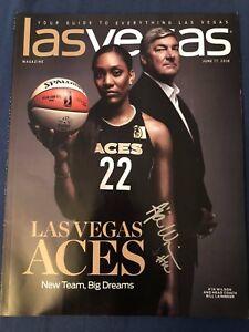 2018 WNBA LAS VEGAS ACES Program Magazine A'JA WILSON autograph signedLaimbeer