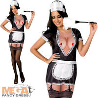 Sexy French Maid Ladies Fancy Dress Hen Party Womens Adults Costume Outfit New