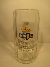 Glas Bierkrug Brauerei Feldkirchen bei Westerham Emailbemalung alt