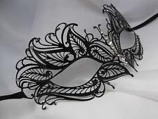 Taglio laser di stile Veneziano Metallo Filigrana Masquerade Festa Maschera e Diamante F3