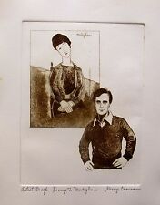 """GEORGE CRIONAS """"HOMAGE TO MODIGLIANI"""" Hand Signed Limited Edition Etching"""