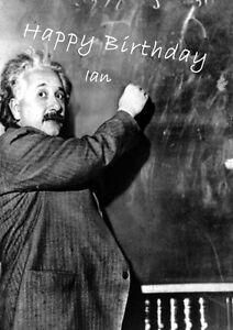 Personalised Einstein Birthday Card