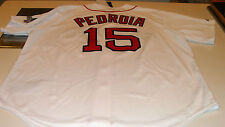 2014 Boston Red Sox Baseball Jersey M World Series Patch Home Dustin Pedroia