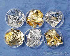 Gold and Silver Foil Set for Nail Art Decoration