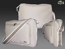LACOSTE  MESSENGER REPORTER Shoulder Bag Casual 2.7 Light Beige