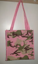 """PINK Camo Tote Bag Camouflage 12""""x12"""" Size Zips Water holder New Resealable"""