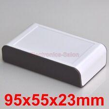 Desktop Instrumentation Project Enclosure Box Case, Brown-White, 95x55x23mm.
