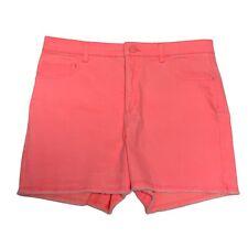 Justice High Waist Orange Shorts Soft & Stretchy Girl's Plus 20 (I-1E)