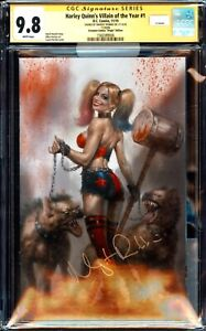 HARLEY QUINN 1 LUCIO PARRILLO VIRGIN VARIANT CGC SS 9.8 SIGNED BY MARGOT ROBBIE