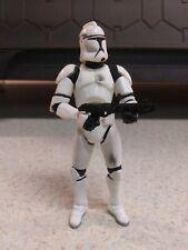 Star Wars Clone Trooper Blaster Damage AOTC Hasbro 2002 3.75 Action Figure