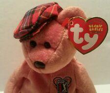 TY Beanie Baby Golfer Bear ChariTee March 25 2004 PGA Golf Tour Duffer Hat EUC