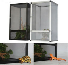 Freshair Screen Habitat Reptile Terrarium Vivarium Tank Aluminum Mesh 32*32*46CM